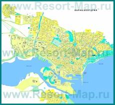 Карта Варны с районами и улицами