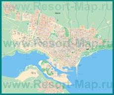 Подробная карта города Варна