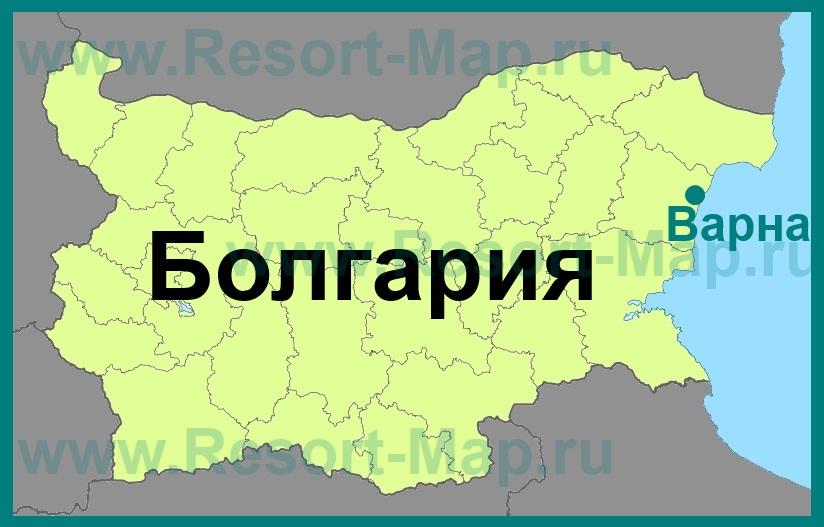 Varna Na Karte Bolgarii