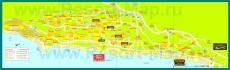 Карта отелей Золотых Песков