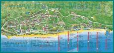 Подробная карта курорта Золотые Пески