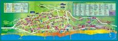 Туристическая карта Золотых Песков с отелями