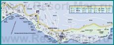 Подробная карта города Герцег-Нови
