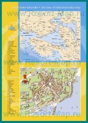 Туристическая карта Герцег-Нови с достопримечательностями