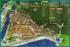 Туристическая карта Котора с отелями