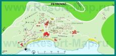 Подробная карта курорта Петровац