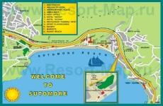 Туристическая карта курорта Сутоморе