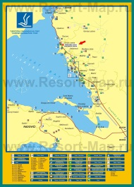 Подробная карта города Тиват