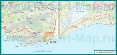 Подробная карта курорта Ульцинь