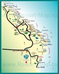 Карта отелей Пунта Каны