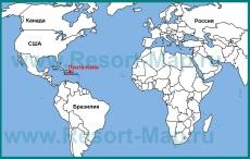 Пунта-Кана на карте мира