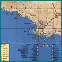Карта отелей Дахаба