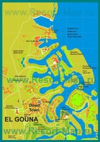 Карта отелей Эль-Гуны