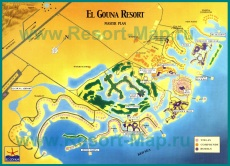 Подробная карта Эль-Гуны