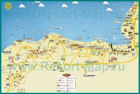 Карта побережья Хургады