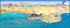Туристическая карта Хургады с отелями