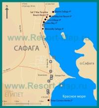 Карта отелей Сафаги