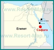 Сафага на карте Египта