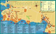 Карта города Шарм-эш-Шейх с отелями