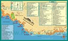 Карта побережья Шарм-эш-Шейха с бухтами