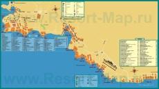 Подробная карта курорта Шарм-эш-Шейх