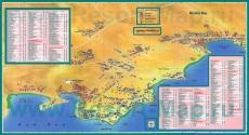 Туристическая карта Шарм-эш-Шейха с районами