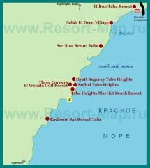 Карта отелей Табы