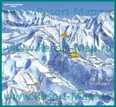 Карта склонов горнолыжного курорта Авориаз
