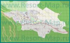 Подробная карта курорта Брид-Ле-Бен