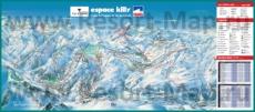 Карта склонов горнолыжного курорта Эспас-Килли