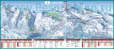 Подробная карта горнолыжного курорта Эспас-Килли с трассами