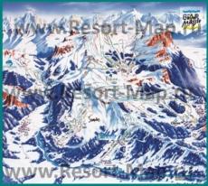 Карта склонов горнолыжного курорта Флен