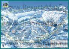 Подробная карта горнолыжного курорта Флен с трассами