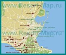 Карта отелей Антиба