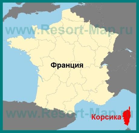 Остров корсика на карте франции