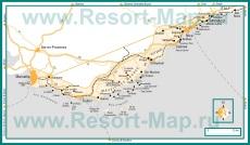 Подробная карта Лазурного берега