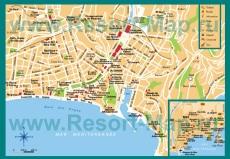 Карта центральной части города Ницца