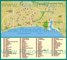 Карта отелей Ниццы