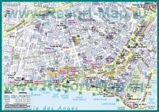 Туристическая карта Ниццы с отелями