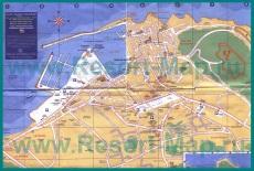 Подробная туристическая карта Сан-Тропе