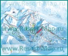 Карта склонов горнолыжного курорта Куршевель с трассами