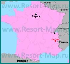Ла-Грав на карте Франции