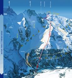Подробная карта горнолыжного курорта Ла-Грав с трассами