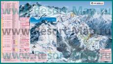 Карта склонов горнолыжного курорта Ле дез Альп