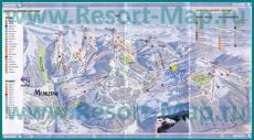Карта склонов горнолыжного курорта Ле Же