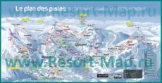 Подробная карта горнолыжного курорта Ле Же с трассами