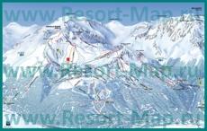 Карта склонов горнолыжного курорта Лез Арк