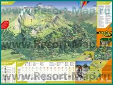 Подробная карта горнолыжного курорта Лез Арк с трассами