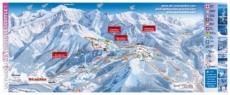 Карта склонов горнолыжного курорта Лез-Уш с трассами
