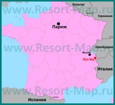 Лез-Уш на карте Франции